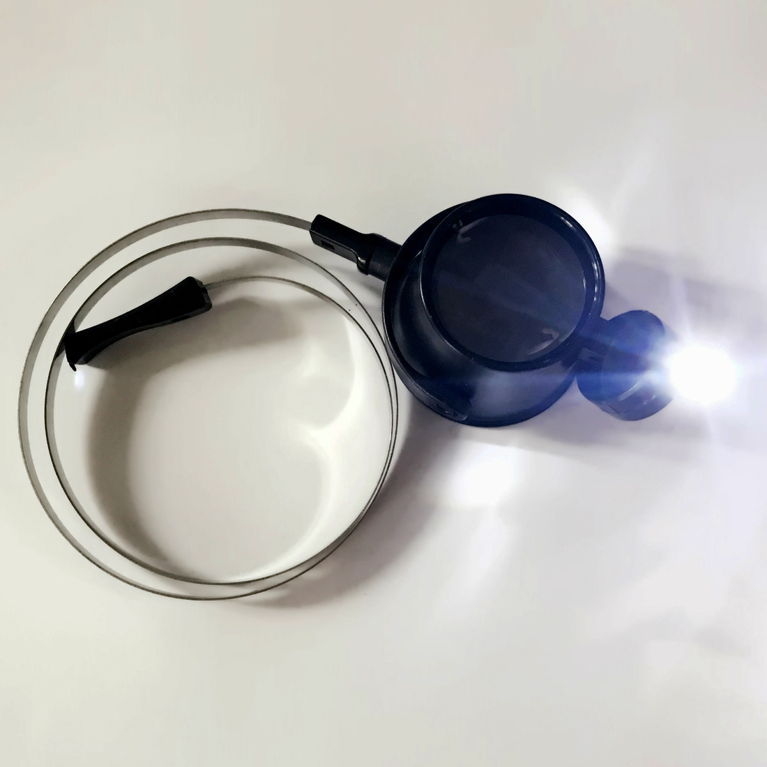 Hot!High Quality Led Lighted 15X Eye-Loupe Hands-Free Head Band Magnifier With 2CR1620 Lithium Metal Battery