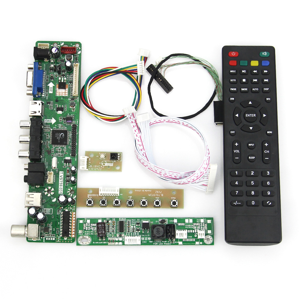 tv + Hdmi + Vga + Cvbs + Usb Bekomme Eins Gratis Für M236h3-la3 Lvds Wiederverwendung Laptop 1920*1080 Kaufe Eins Vst59.03 Lcd/led Controller Driver Board Stetig T