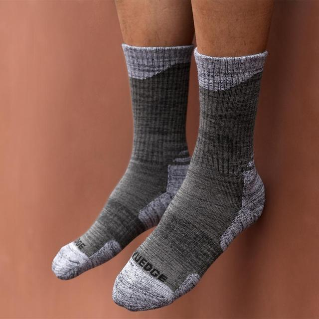 YUEDGE Brand Men High Quality Breathable Comfortable Cotton Cushion Casual Crew Socks 5 Pairs