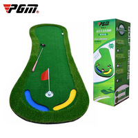 Authentic Pgm Golf Artificial Green Putting Practicer Mini Golf Practice Blanket Indoor Office Exercise Mat Kit Pad High Quality