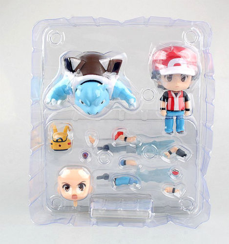 GO Trainer Red Champion Ver Ash Ketchum Blastoise Action Figure Doll Toy Anime Figure Collectible Model Toy