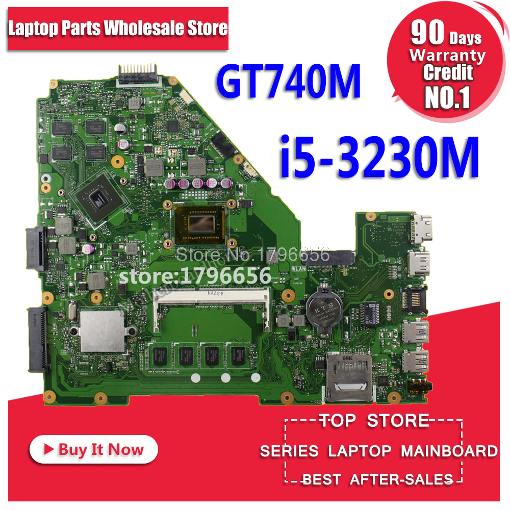 X550CC Motherboard GT740M i5-3230M For ASUS X550C X550CL X552C laptop Motherboard X550CC Mainboard X550CC Motherboard test ok