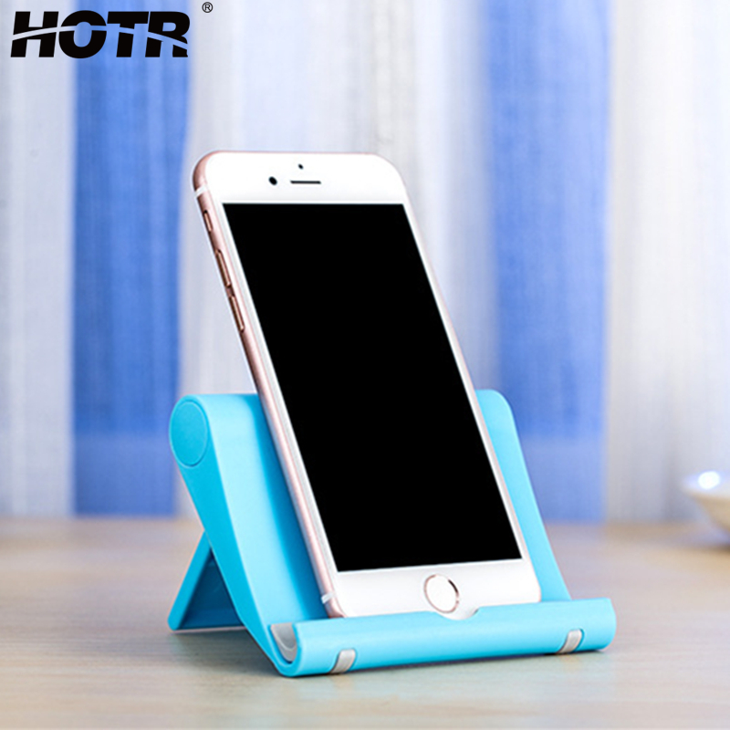 HOTR Desk Holder Tablet Mobile Phone Holder Foldable Stand Mount Display Tablet Cell Phone Holder Universal Stand Support