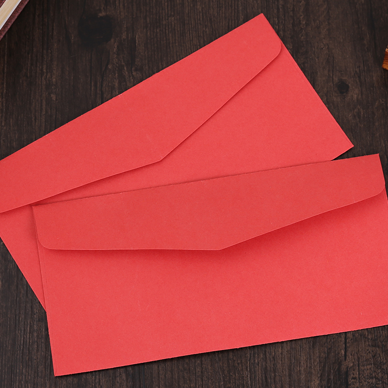(10 Pieces/lot) Simple Red Envelopes For Invitations Cards Letter Paper Vintage Blank Envelopes