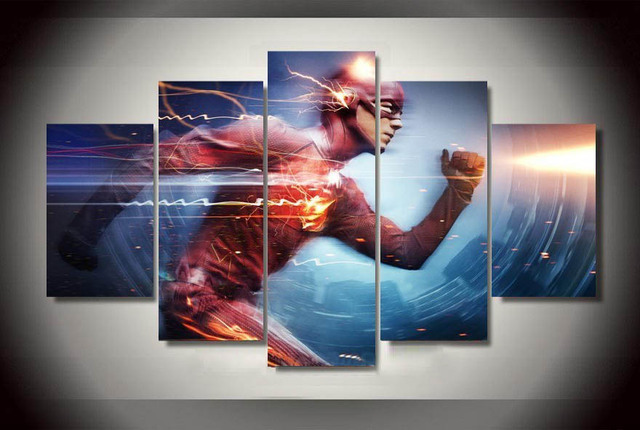 Wall Art The Flash Print Painting By Numbers On Canvas Room