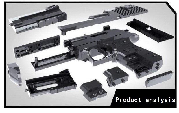 DIY bloques de construcción juguetes arma Águila del desierto y bereta Revolver wtih bala pistola de plástico modelo para niños