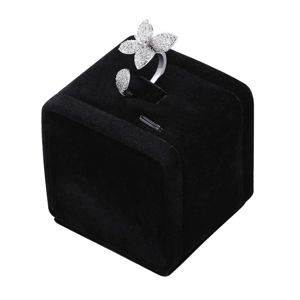 2019 ใหม่แต่งงานชุดเครื่องประดับสร้อยคอ + สร้อยข้อมือ + ต่างหู + แหวนของขวัญ Party อุปกรณ์เสริมดอกไม้ที่สวยงามเครื่องประดับ