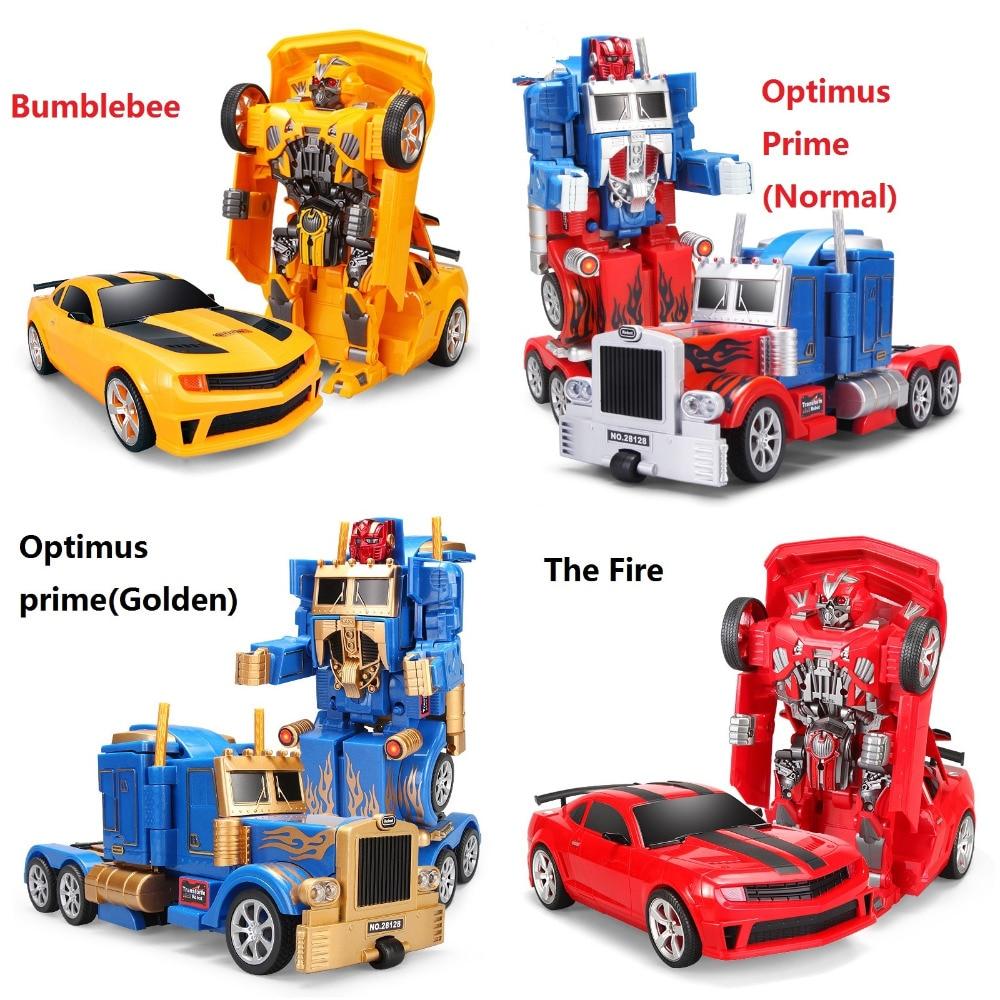 Rc transformación 4 prime toys una clave de control remoto eléctrico niños coche