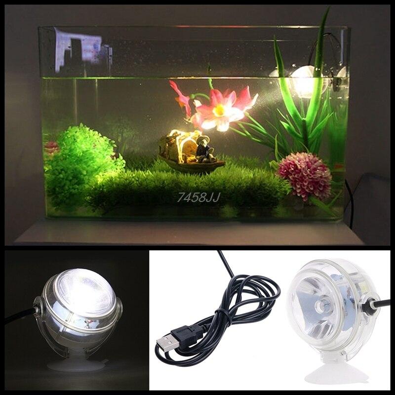 Precise 1w 6 Colors Mini Underwater Lamp Submersible Aquarium Light Waterproof Led Eu Plug Led Lamps