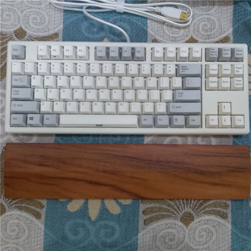 US $15 8 |Solid wood palm rest 87 TKL mechanical keyboard hand rest wrist  rest 68 keyboard support walnut wood holder for 84 mini keyboard-in