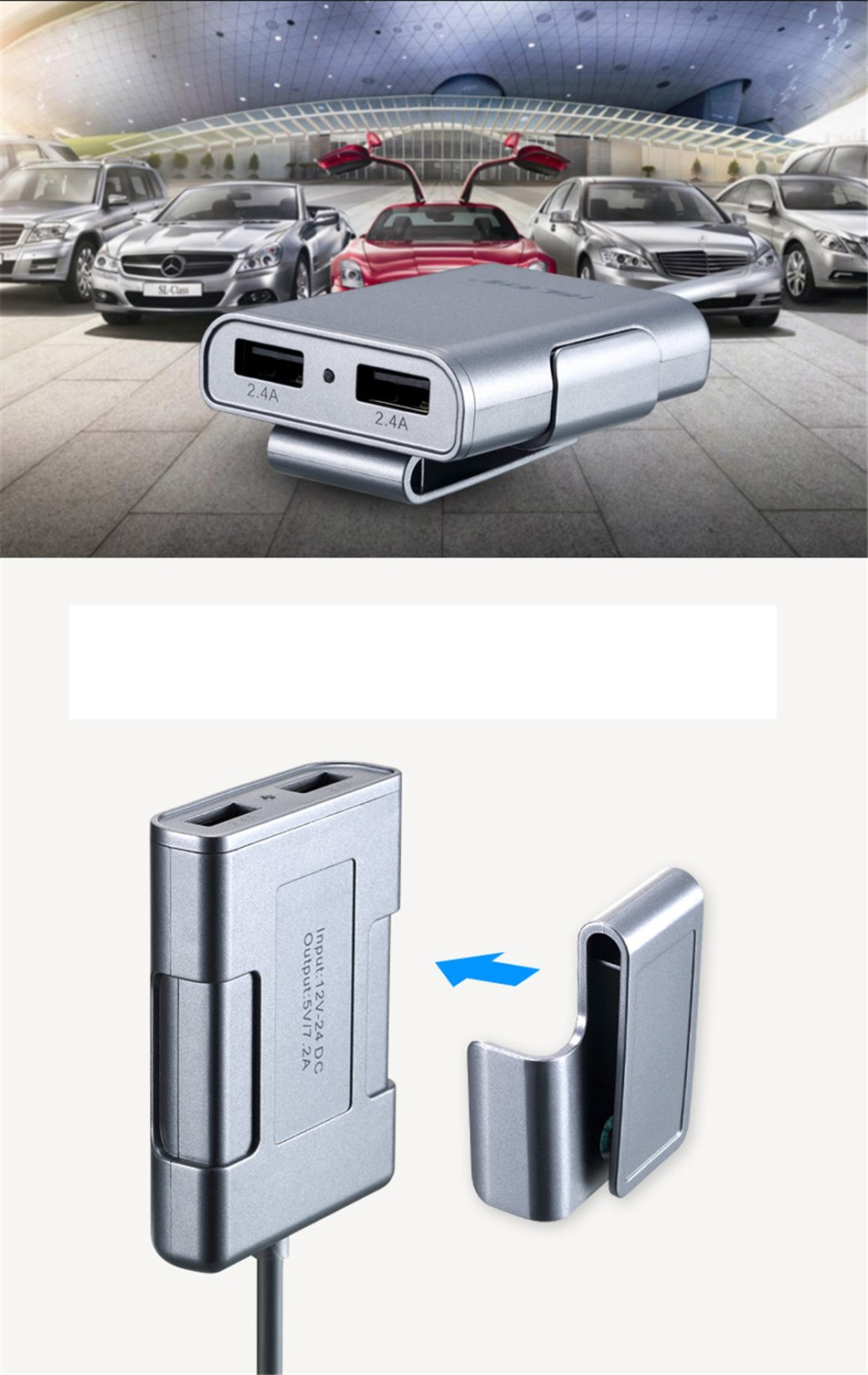 Brand HSC-600 car-charger 4 USB 4.8A Lengthen 1.8 meters , car charger for ipad iphone 5 5s 6 6s and samsung phone (13)