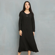 2019 Wrist Lady Silk Linen Dress Jacquard Bottom Pearl Buckle Dress чехлы для автосидений silk linen silk sandwiches poio