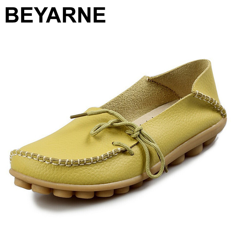 BEYARNE Free shipping Women Genuine Leather Mother Shoes Moccasins Womens Soft Leisure Flats Female Driving Shoes Flat LoafersBEYARNE Free shipping Women Genuine Leather Mother Shoes Moccasins Womens Soft Leisure Flats Female Driving Shoes Flat Loafers