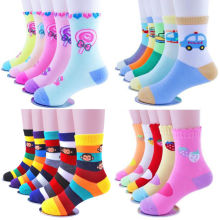 5 Pairs/Lot  Girls Winter Autumn Striped Socks Unisex Kids Children Boy Cotton 1Y-12Y 6 7 10 12