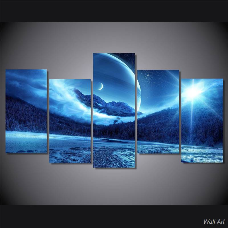 Hd Printed Sun And Moon Awesome Painting On Canvas Room Decoration Print Poster Picture Canvas Free Shipping -92590-YP