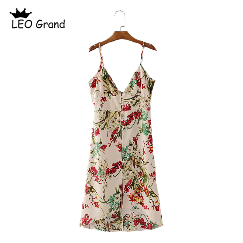 Leo Grand font b women b font sexy adjustable strap V neck font b dress b