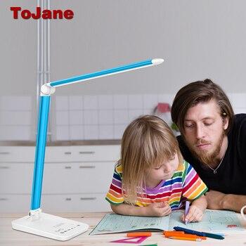 ToJane Recarregável lâmpada de Mesa Lâmpadas de Iluminação Ajustável Eye-care Levou CCC Candeeiro de Mesa Dobrável de Mesa de Escritório Lâmpada de Mesa Luz TG168-C