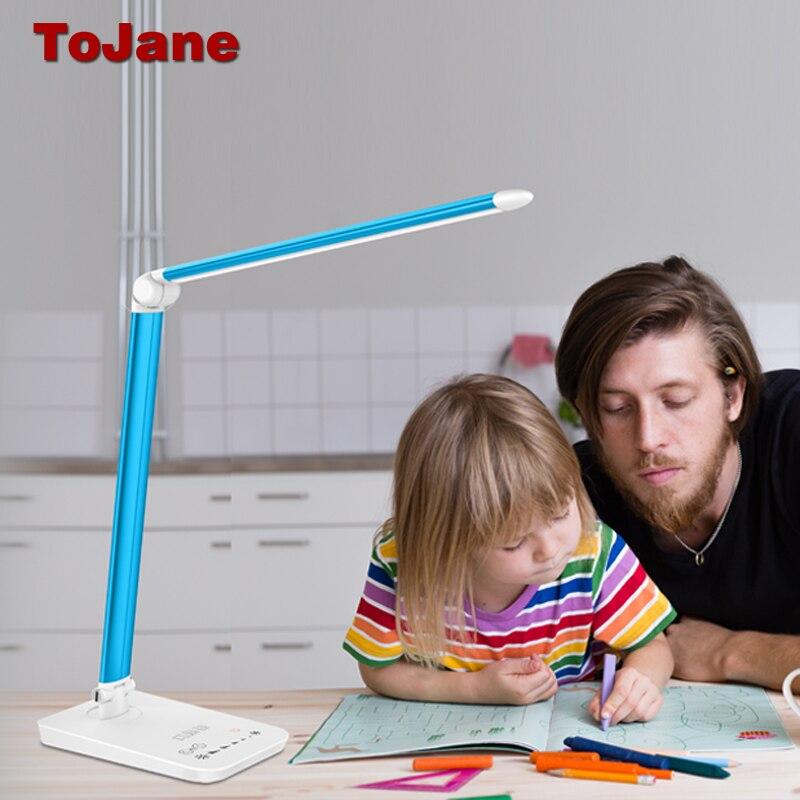 ToJane Rechargeable Lampes de Bureau Réglable Éclairage Des Lunettes de soins Led Table Lampe CCC De Bureau Pliant Lampe de Bureau Bureau Lumière TG168-C