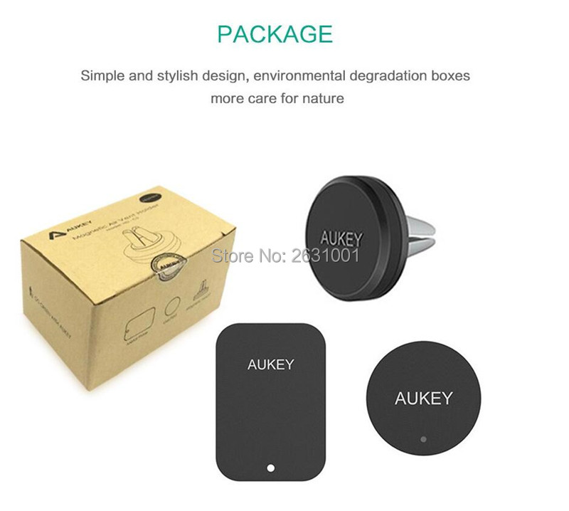 AUKEY USB car magnetic air vent charger 9