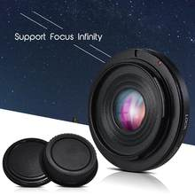 For FD-EOS Lens Mount Adapter Camera Lens Adapter Ring with Optical Glass Focus Infinity FD Lens to EOS EF Mount Body for Canon Camera r60(China)