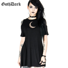 Goth Dark Grunge Aesthetic Hollow Out Dresses Gothic Summer 2019 Vintage Hole Dress Harajuku Pleated  Fashion Sexy Elegant