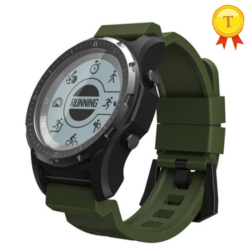 Hot selling GPS Smart Watch waterproof Smartwatch Heart Rate Monitor Temperature Multi-sport Men Compass Running Sport Watch makibes br2 smart watch men gps smartwatches electronic compass heart rate monitor multi sport dynamic optical sports watch