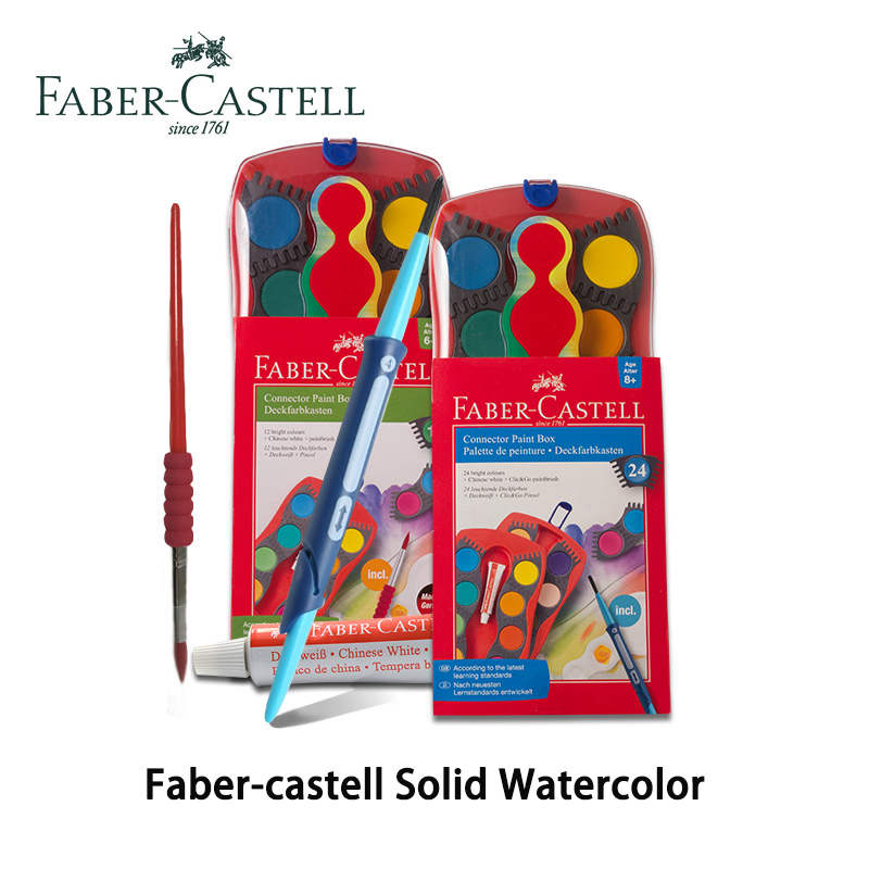 Faber Castell Paint Box Connector 12/24 Colours Solid Watercolor Pigment Can Be Stitched With Art Brush Artist Supplies For Kids wrangler wrangler wl161641 100