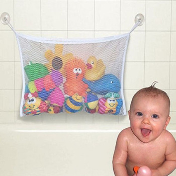 Kids Bath Tub Toy Bag Hanging Organizer Storage Bag Baby Bathing Accessories Eco-Friendly Baby Bathroom Mesh Bag