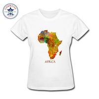 2017 Fashion Summer Style Africa maps More fun cute pattern Cotton funny t shirt women