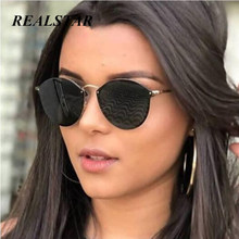 купить REALSTAR 2018 New Fashion Round Mirror Sunglasses Women Luxury Cute Rimless Sun Glasses Sunglass For Ladies Brand Designer S452 по цене 371.83 рублей
