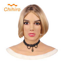 Soft Silicone Realistic Female Head Mask Betris Angel Face with Neck Fake Breast Forms for Crossdresser Transgender Shemale Doll - DISCOUNT ITEM  48% OFF All Category