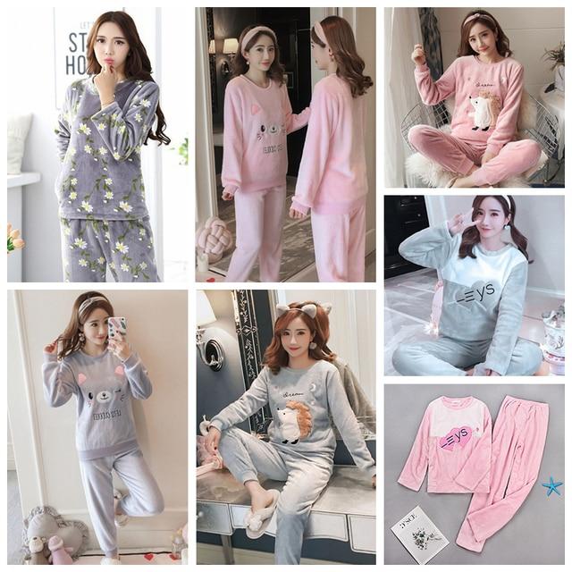 Warm Flannel Pajama Set 5
