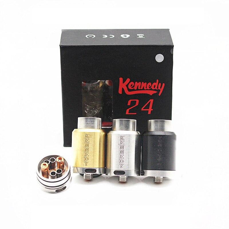 Vaporizador Kennedy 24 RDA E cigarrillo 24mm diámetro Reubuildable goteando Mech del atomizador del vistazo aislante ajuste mecánico Mod Vape