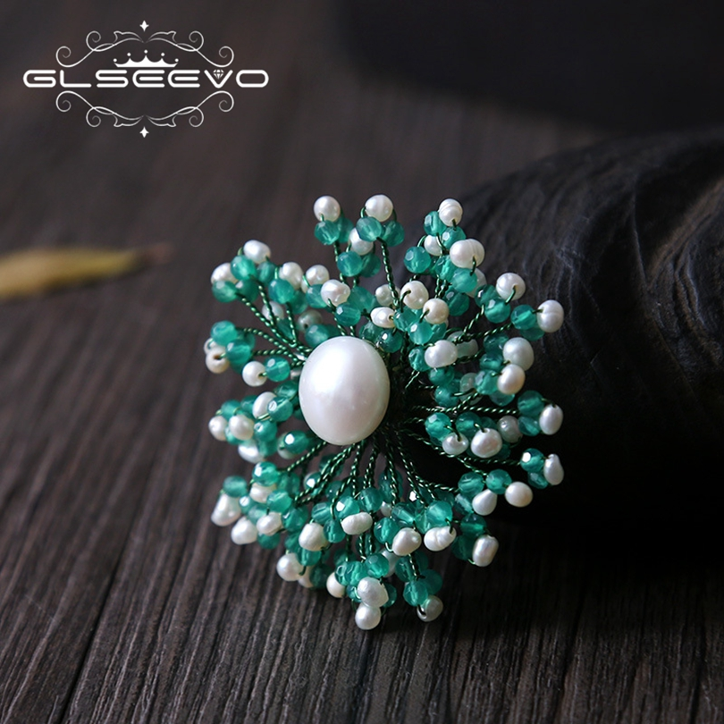 GLSEEVO Natural Fresh Water Pearl Agate Handmade Brooch Pins And Brooches For Women Gifts Dual Use Luxury Fine Jewelry GO0209 glseevo natural fresh water pearl chokers necklace for women handmade necklaces luxury fine jewelry gargantilha kolye gn0047