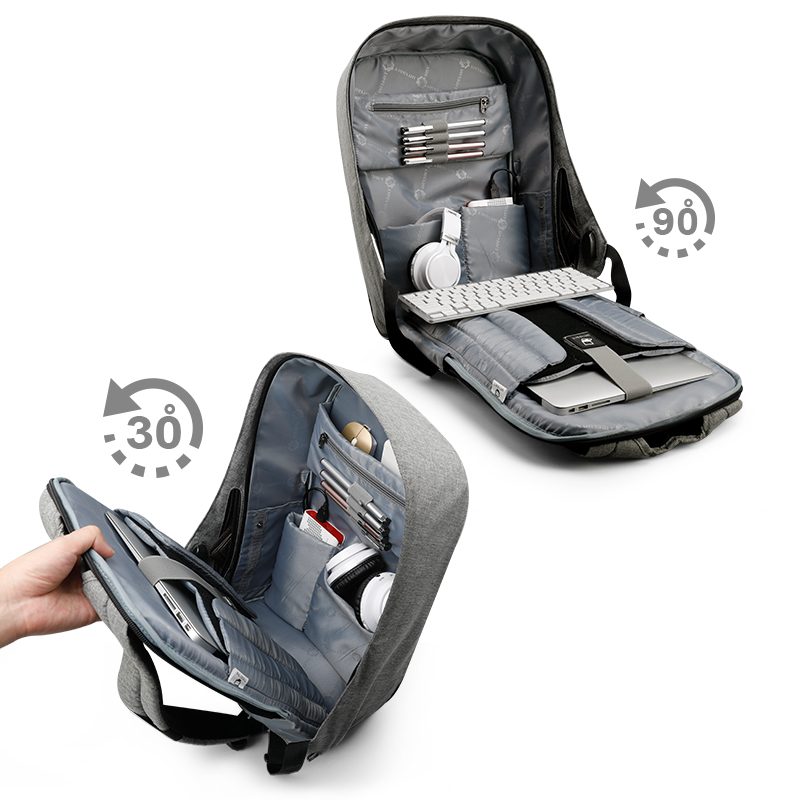 Mochila para ordenador portátil de 15,6 pulgadas con carga USB antirobo multifunción Tigernu Mochila impermeable para hombre-in Mochilas from Maletas y bolsas    2