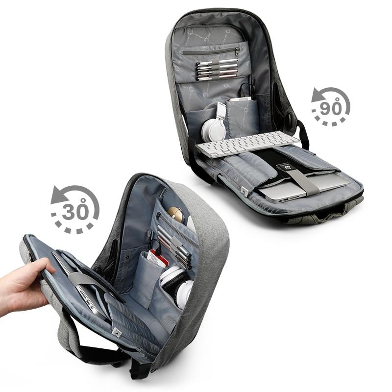 Tigernu multifonction Anti voleur USB charge 15.6 pouces sac à dos pour ordinateur portable mâle école étanche sac à dos pour hommes Mochila ordinateur-in Sacs à dos from Baggages et sacs    2