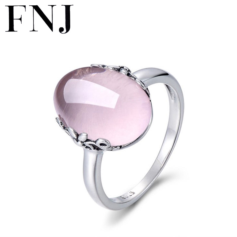 Luxury Natural Stone Ring 925 Silver Bague Femme Pure joyas de plata S925 Sterling Silver Rings