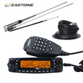 Zastone MP800 Car Radio VHF UHF Frequency Quand Band 50W/20W/10W/5W Mobile Transceiver Two Way Radio Station with Cable Antenna