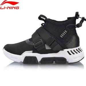 Image 2 - Li Ning Women SURVIVER K Walking Shoes Mid cut Zipper Buckle Leisure Durable Anti slip LiNing Sport Sneakers AGLP046 SJFM19