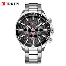 Watches For Men Stainless Steel Band Quartz Wristwatch Fashi