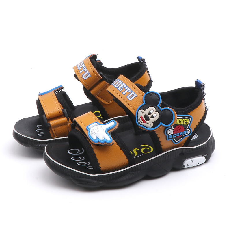 2019 Summer New Children's Fashion Soft Shoes Baby Casual Joker Cartoon Beach Sandals Small Children's Sandals Size 21-31