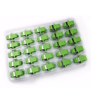 Image 1 - 50 個の sc Apc 光ファイバアダプタシングルモードシンプレックス SC apc コネクタ光ファイバアッテネータ SC シングルモードファイバフランジ送料無料