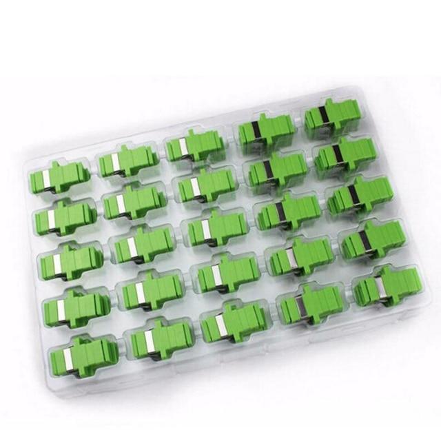 50 個の sc Apc 光ファイバアダプタシングルモードシンプレックス SC apc コネクタ光ファイバアッテネータ SC シングルモードファイバフランジ送料無料