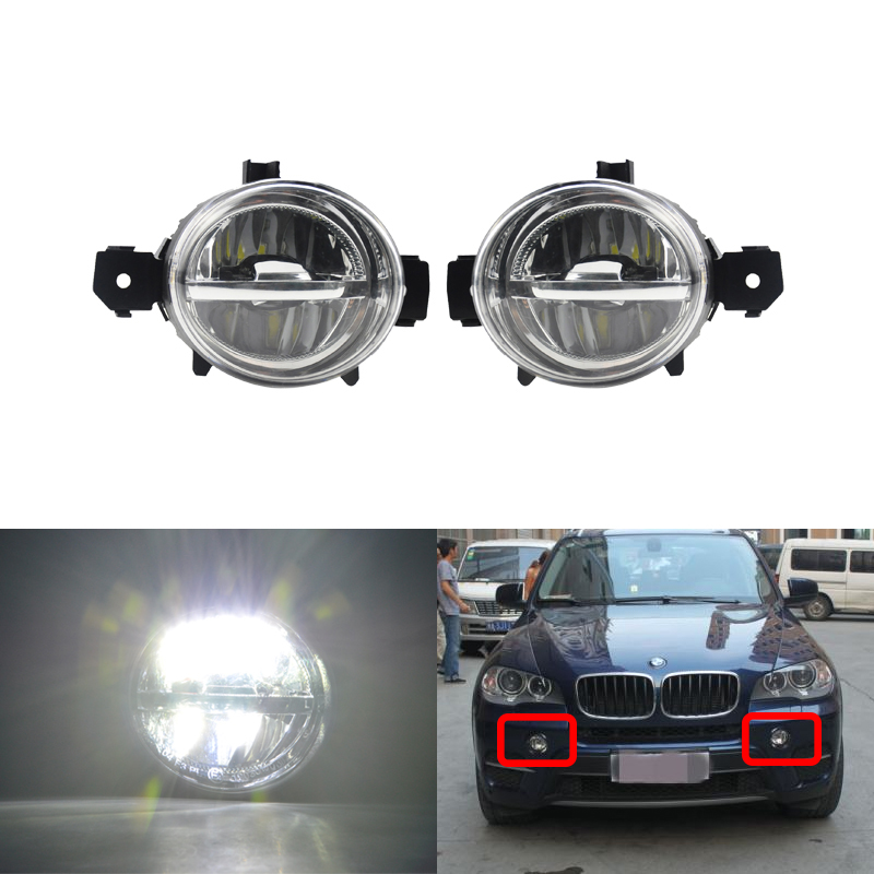 Led Front Driving Fog Light Kits Cree Chips For BMW E70 X5 Pre LCI 2006 2007