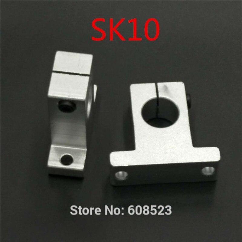4pcs/lot SK10 SH10A 10mm linear ball bearing rail shaft Side Blocks Vertical support XYZ Table CNC 3D printer Part