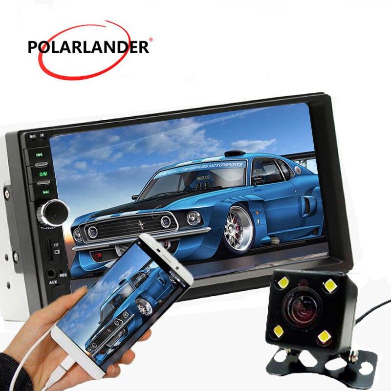 4LED caméra USB/AUX/FM/SD Bluetooth Autoradio MP5 Radio cassette lecteur 7 pouces 2 DIN écran tactile stéréo miroir lien Autoradio