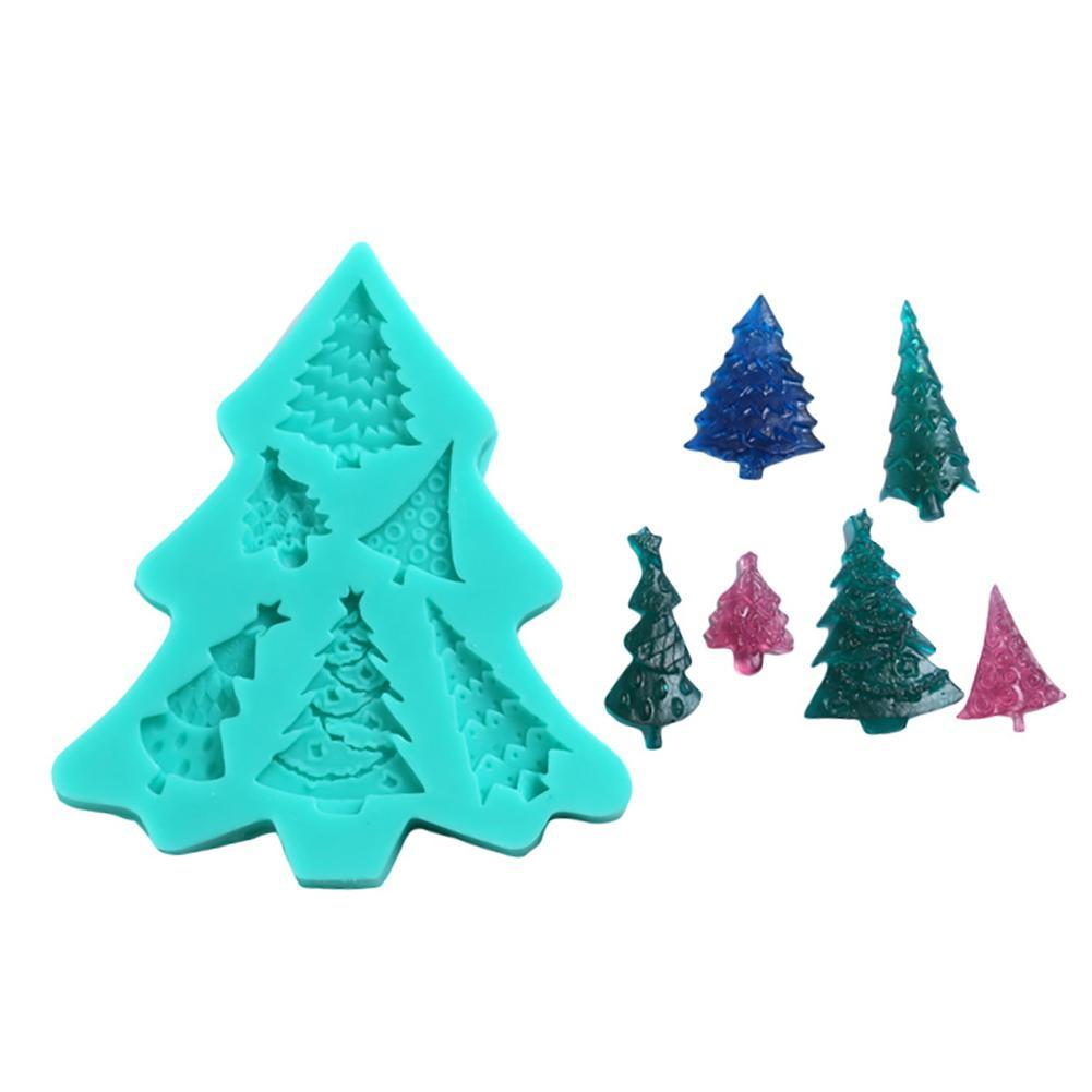 Christmas tree Cake Decoration Mold Sugar Candy Chocolate Mold ...