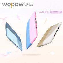 Wopow W10000 тонкий 8000 мАч Power Bank Dual Зарядка через USB порт Портативный Зарядное устройство Внешний Батарея мощности для IPhone Xiaomi LG