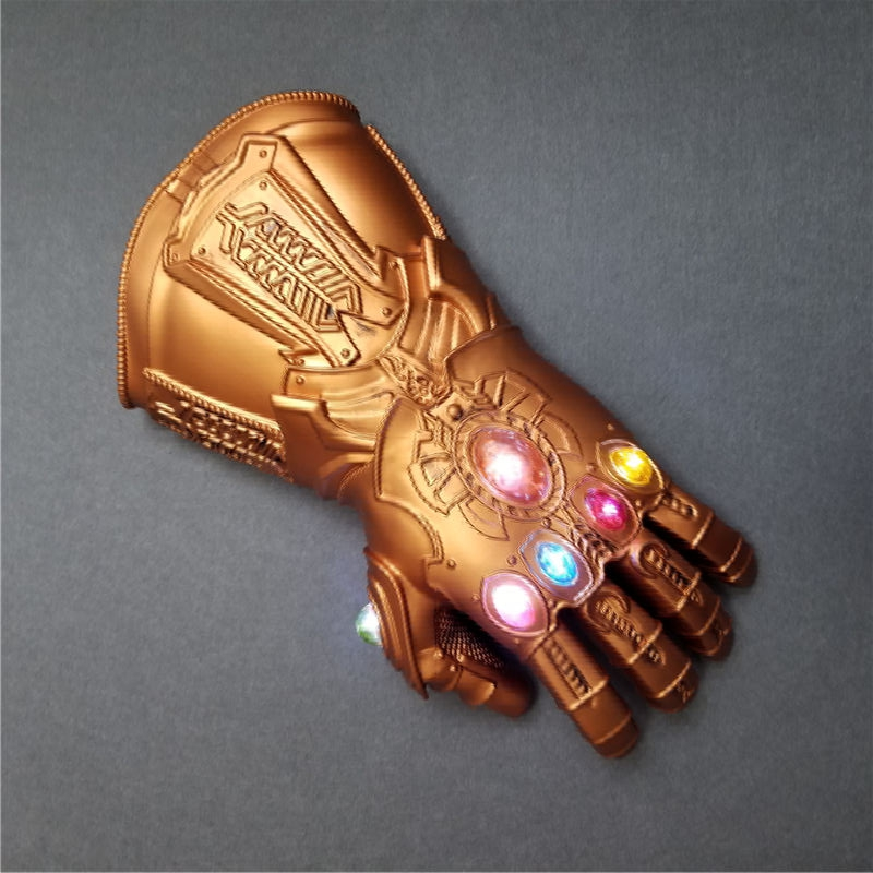 The Avengers Thanos Infinity Gauntlet Cosplay Gloves Halloween Avengers Thanos Infinity Gauntlet Cos Gloves with Led Light