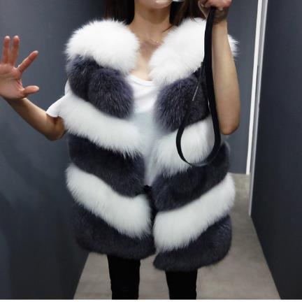 Outwear Renard Vison Femininos Femmes 2019 De Fourrure Fausse Sans Manches Grand Moelleux Luxe En Manteaux Multi M503 Automne Gilet Hiver g7qwznqaTx